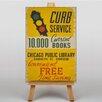 Big Box Art Leinwandbild Curb Service Retro-Werbung