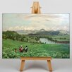 "Big Box Art Leinwandbild ""Family in the Fields"" von Hans Thoma, Kunstdruck"