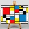 Big Box Art Style by Piet Mondrian Graphic Art on Canvas