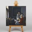 Big Box Art Girl Interrupted At Her Music by Johannes Vermeer Art Print on Canvas