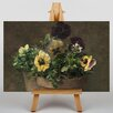Big Box Art Still Life with Pansies No.2 by Henri Fantin-Latour Art Print on Canvas