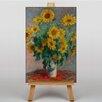 Big Box Art Bouquet of Sunflowers by Claude Monet Art Print on Canvas