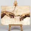 Big Box Art Cration of Adam Hands by Michelangelo Art Print on Canvas