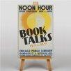 Big Box Art Leinwandbild Book Talks, Retro-Werbung