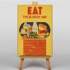 Big Box Art Eat These Every Day Vintage Advertisement on Canvas