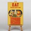 Big Box Art Leinwandbild Eat These Every Day, Retro-Werbung