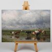 "Big Box Art Leinwandbild ""Cows"" von Willem Roelofs, Kunstdruck"