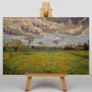 Big Box Art Stormy Sky Landscape by Vincent Van Gogh Art Print on Canvas