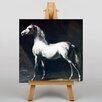 Big Box Art Leinwandbild White Horse, Kunstdruck von Gericault Theodore