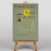 Big Box Art Leinwandbild Exhibition No.35, Retro-Werbung