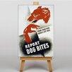 Big Box Art Leinwandbild Dog Bites Retro-Werbung