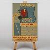 Big Box Art Recreation Centers Program Vintage Advertisement on Canvas