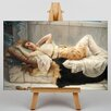 Big Box Art Godward Resting Girl by John William Art Print on Canvas