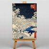 Big Box Art Japanese Oriental Bridge at Meguro by Hiroshige Art Print on Canvas