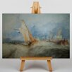 Big Box Art Ship at Sea by Joseph Mallord William Turner Art Print on Canvas