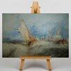 "Big Box Art Leinwandbild ""Ship at Sea"" von Joseph Mallord William Turner, Kunstdruck"