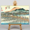 Big Box Art Japanese Oriental Kyoto by Hiroshige Art Print on Canvas