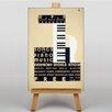 Big Box Art Leinwandbild Piano Music, Retro-Werbung