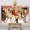 Big Box Art Underground to Wood Lane Vintage Advertisement on Canvas