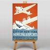 Big Box Art Municipal Airports Vintage Advertisement on Canvas