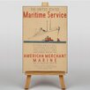 Big Box Art Maritime Service No.1 Vintage Advertisement on Canvas