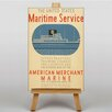 Big Box Art Maritime Service No.2 Vintage Advertisement on Canvas