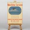 Big Box Art Leinwandbild Maritime Service No.2, Retro-Werbung
