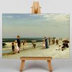 Big Box Art Families on the Beach by Samuel S. Carr Art Print on Canvas