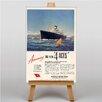 Big Box Art Cunard Line Vintage Advertisement  on Canvas
