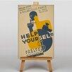 Big Box Art Help Yourself Vintage Advertisement on Canvas