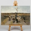 Big Box Art Flock of Sheep by Anton Mauve Art Print on Canvas