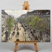 """Big Box Art Leinwandbild """"Boulevard Montmartre in Primavera"""" von Camille Pissaro, Kunstdruck"""