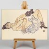 Big Box Art Woman Laying Down by Egon Schiele Art Print on Canvas