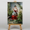 Big Box Art Leinwandbild Girl with Flowers, Kunstdruck von Franz Kadlik