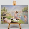 Big Box Art Seurat Bathers by Seurat Bathers Art Print on Canvas