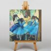 Big Box Art Dancers in Blue by Edgar Degas Art Print on Canvas
