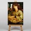 Big Box Art The Woman and Window by Dante Gabriel Rossetti Art Print on Canvas