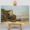 Big Box Art Normandy Beach by Gustave Coubert Art Print on Canvas