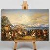 Big Box Art Leinwandbild Reception of King Othon, Kunstduck von Peter Von Hess
