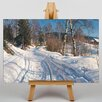 Big Box Art A Winter Path by Peder Mork Monstead Art Print on Canvas