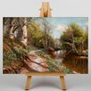 Big Box Art Autumn River Path by Peder Mork Monstead Art Print on Canvas