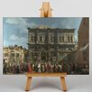 Big Box Art The Feast Day of St Roch by Giovanni Canaletto Art Print on Canvas