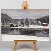 Big Box Art Winter Landscape No.3 by Victor Westerholm Art Print on Canvas