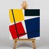 Big Box Art Leinwandbild Kontra Komposition Grafikdruck von Theo Van Doesburg