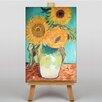 """Big Box Art Leinwandbild """"Sonnenblumen"""" von Vincent Van Gogh, Kunstdruck"""