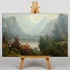 Big Box Art Hudson River by Jasper Francis Cropsey Art Print on Canvas