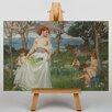 Big Box Art Waterhouse The Field of Spring by John William Art Print on Canvas