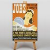 Big Box Art Jobs for Girls Vintage Advertisement on Canvas