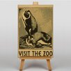 Big Box Art Visit the Zoo Vintage Advertisement on Canvas