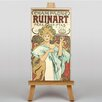 Big Box Art Champagne Ruinart by Alphonse Mucha Vintage Advertisement on Canvas